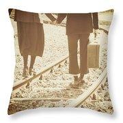 Vagabonds Throw Pillow by Joana Kruse