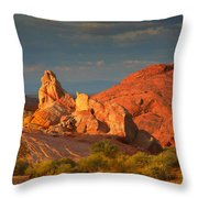 Valley Of Fire - Picturesque Desert Throw Pillow by Christine Till