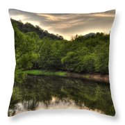 Valley River Throw Pillow by Greg and Chrystal Mimbs