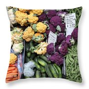 Variety Of Fresh Vegetables - 5d17900 Throw Pillow by Wingsdomain Art and Photography