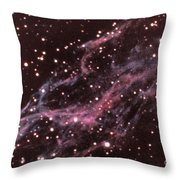 Veil Nebula In Cygnus Throw Pillow by USNO / Science Source