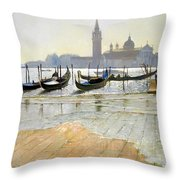 Venice At Dawn Throw Pillow by Timothy Easton