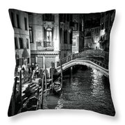 Venice Evening Throw Pillow by Madeline Ellis