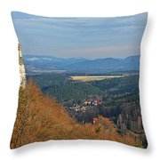View From Koenigstein Fortress Germany Throw Pillow by Christine Till