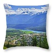 View of Revelstoke in British Columbia Throw Pillow by Elena Elisseeva