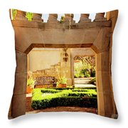 View Of The Garden Throw Pillow by Tamyra Ayles