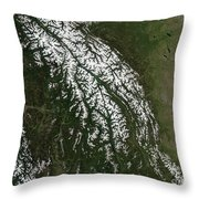 View Of The Rocky Mountains Throw Pillow by Stocktrek Images