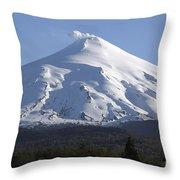Villarrica, Steaming Crater, Araucania Throw Pillow by Martin Rietze