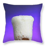 Vinegar & Baking Soda Experiment, 3 Or 3 Throw Pillow by Photo Researchers, Inc.