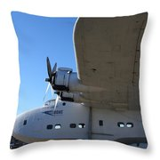 Vintage Boac British Overseas Airways Corporation Speedbird Flying Boat . 7d11290 Throw Pillow by Wingsdomain Art and Photography