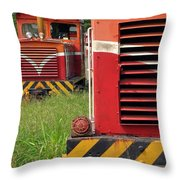 Vintage Diesel Engines Throw Pillow by Yali Shi