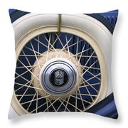 Vintage Nash Tire Throw Pillow by Kay Novy