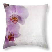 Vintage Orchids Throw Pillow by Jane Rix