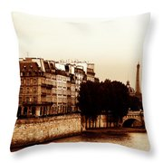 Vintage Paris 5 Throw Pillow by Andrew Fare