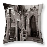 Vintage Paris1 Throw Pillow by Andrew Fare