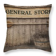 Vintage sign General Store Throw Pillow by Jane Rix