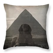 Vintage Sphinx Throw Pillow by Jane Rix