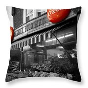 Vintage Store Throw Pillow by Kamil Swiatek