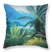 Visions Of Hawaii Throw Pillow by Karin  Leonard