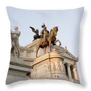 Vittoriano. Monument To Victor Emmanuel II. Rome Throw Pillow by Bernard Jaubert