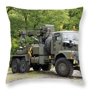 Volvo N10 Truck Crane Of The Belgian Throw Pillow by Luc De Jaeger