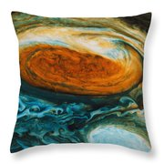 Voyagers View Of The Great Red Spot, An Throw Pillow by Nasa