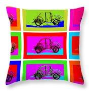 VW Beatle 1b Throw Pillow by Mauro Celotti