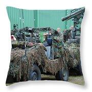 Vw Iltis Jeeps Of A Recce Scout Unit Throw Pillow by Luc De Jaeger