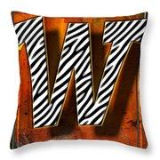 W Throw Pillow by Mauro Celotti