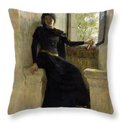 Waiting Throw Pillow by Jean Pierre Laurens