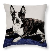 Wake Up Throw Pillow by Susan Herber