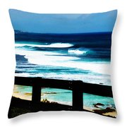 Walkway To The Sea Throw Pillow by Phill Petrovic