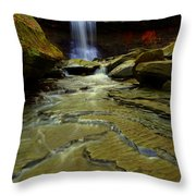 Warm Sky Cool Water Throw Pillow by Frozen in Time Fine Art Photography