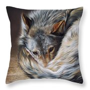 Watchful Rest Throw Pillow by Elena Kolotusha