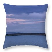 Water And Dark Clouds Throw Pillow by John Short