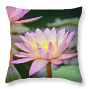 Water Lilies Throw Pillow by Steven  Michael