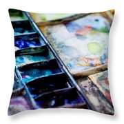 Watercolors Throw Pillow by Kim Fearheiley