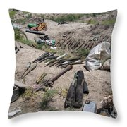 Weapons Caches Throw Pillow by Stocktrek Images