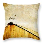 Weathervane Throw Pillow by Joan McCool