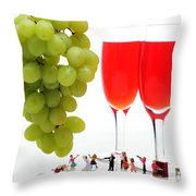 Wedding Ceremony Throw Pillow by Paul Ge