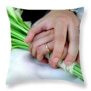Wedding Rings Throw Pillow by Carlos Caetano