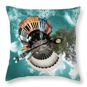Wee Downtown Bryan Throw Pillow by Nikki Marie Smith