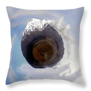 Wee Tongariro Volcanoes Throw Pillow by Nikki Marie Smith