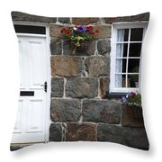 Welsh Cottage Detail Throw Pillow by Jane Rix