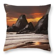 Westcombe Bay Throw Pillow by Richard Garvey-Williams