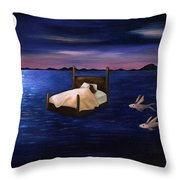 Wet Dreams Throw Pillow by Leah Saulnier The Painting Maniac