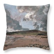 Weymouth Bay With Jordan Hill Throw Pillow by John Constable