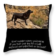 What If Throw Pillow by Bonnie Bruno