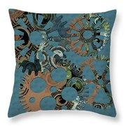Wheels Throw Pillow by Bonnie Bruno