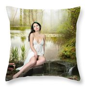 Where Secrets Are Kept Throw Pillow by Mary Hood